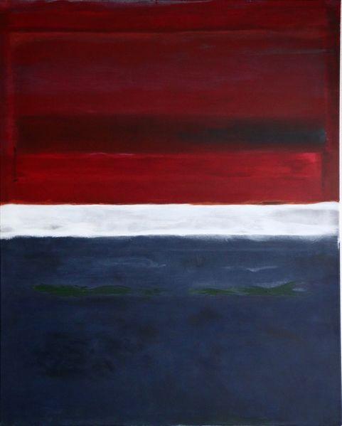 Modern, Rot, Abstrakt, Malerei, Expressionismus, Blau