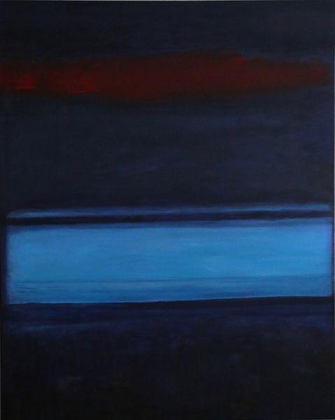 Expressionismus, Acryl auf leinwand, Blau, Malerei, Hellblau, Abstrakt