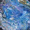Blau, Lila, Schwarz, Malerei