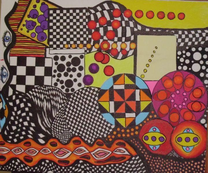 Zeichnung, Abstrakt, Mischtechnik