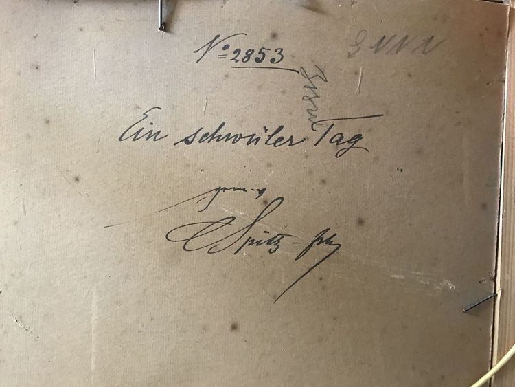 Pinnwand, Signatur, Rückseite