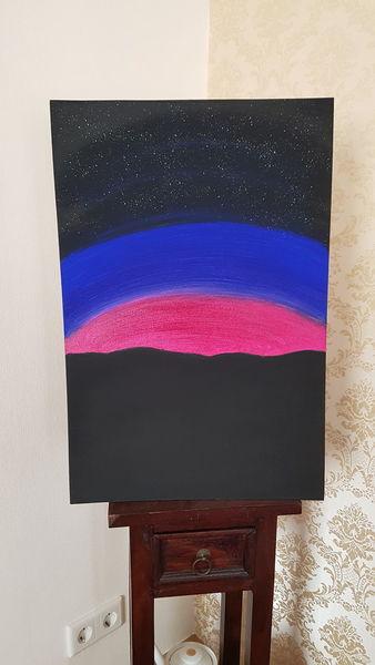 Stern, Atmosphäre, Universum, Malerei, Blick