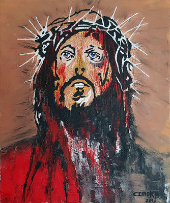 Modern, Passion, Malerei, Jesus, Bunt, Bibel