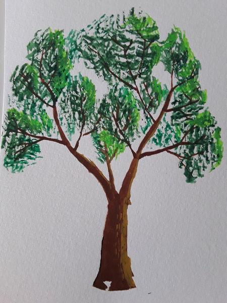 Malerei, Zeichnung, Gemälde, Aquarell, Baum