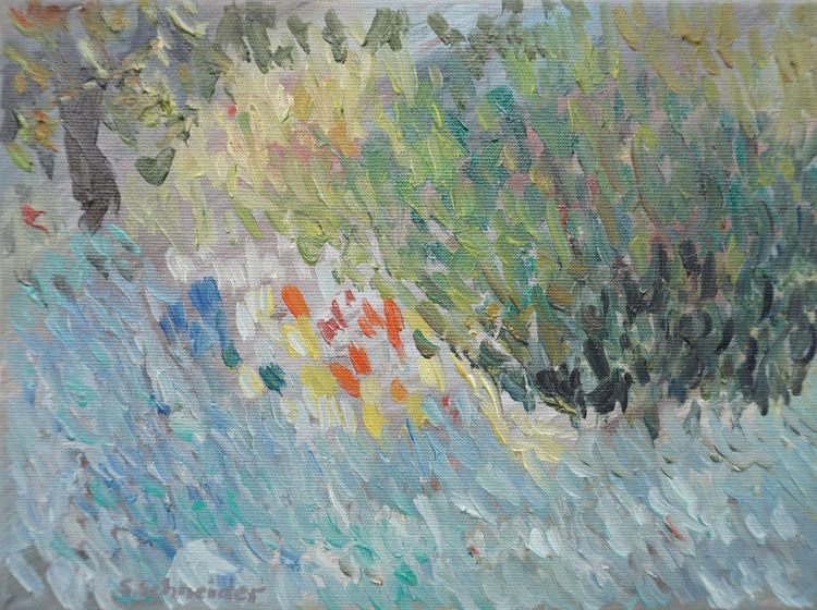Herbst, See, Malerei