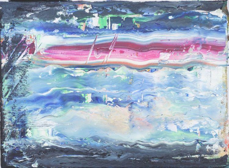 Blau, Lila, Welle, Abstrakt, Malerei