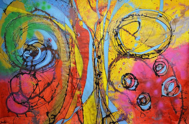 Acrylmalerei, Farben, Modern art, Malerei modern, Abstrakt, Malerei