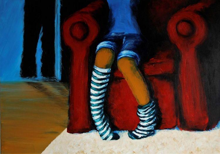 Menschen, Malerei, Acrylmalerei