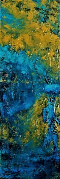 See, Spazierengehen, Wald, Blau, Wasser, Gold