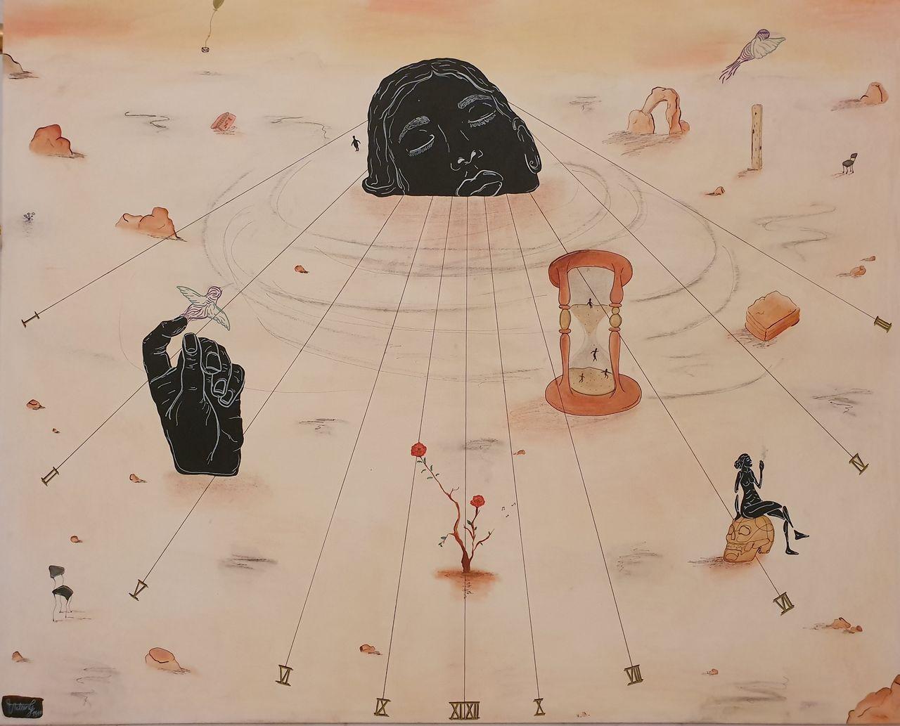Entdecke Neue Orte Liebes Schwarze Figur Surreal Abstrakte Kunst Malerei Von Virgi Aileen Bei Kunstnet