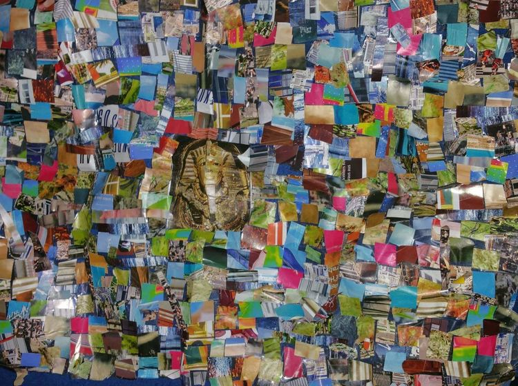 Ägypten, Bunt, Farben, Collage, Mischtechnik