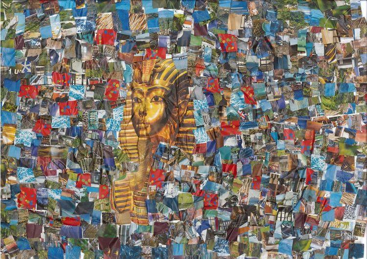 Ägypten, Bunt, Collage, Collag, Farben, Mischtechnik