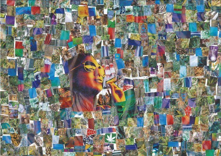 Collage, Thc, Bunt, Farben, Mischtechnik