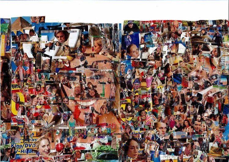 Kino, Musik, Collage, Tv, Mischtechnik