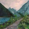 Ölmalerei, Wasser, Freude, See