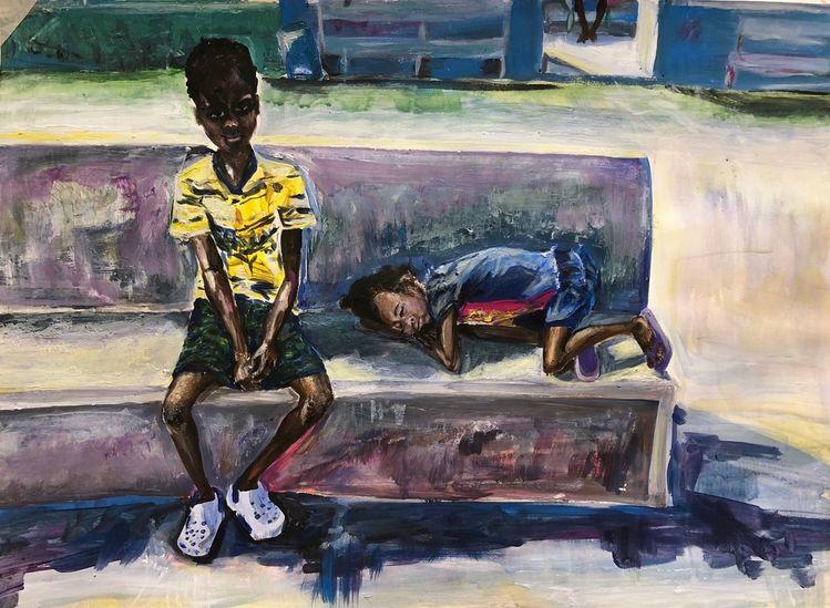 Menschen, Acrylmalerei, Kinder, Malerei,