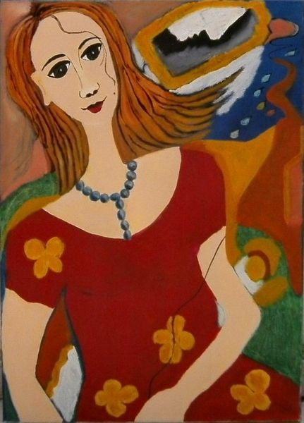 Abstrakt, Frau, Mädchen, Malerei modern, Portrait, Ölmalerei
