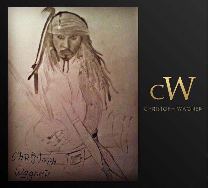 Film, Fluch der karibik, Bleistiftzeichnung, Portrait, Johnny depp, Zeichnungen