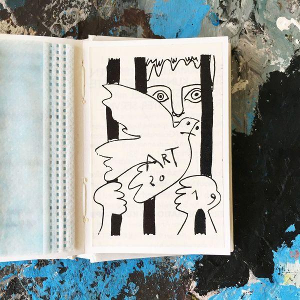 Portrait, Friede vogel, Zeichnungen,