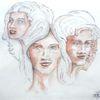 Kopf, Frau, Vergangenheit, Schwestern