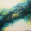 Grün, Abstrakt, Gold, Acrylmalerei