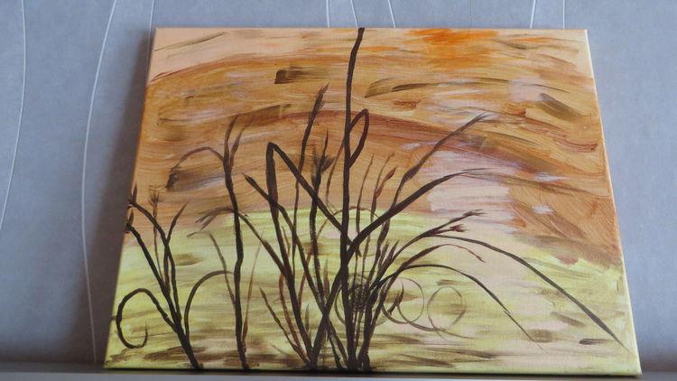Acrylmalerei, Malerei, Modern, Strand