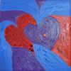 Herz, Sehnsucht, Rot, Blau