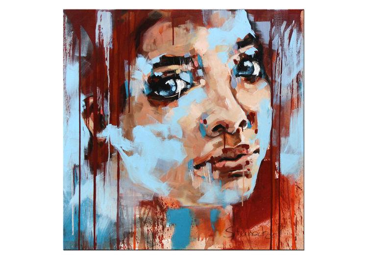 Malerei, Portrait, Acryl acrylmalerei, Malerei modern, Abstrakt, Gemälde