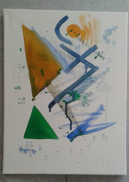 Blau, Malerei, Modern art, Figur, Krise,