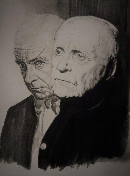 Schauspieler, Portrait, Faust, Mann, Goethe, Exil