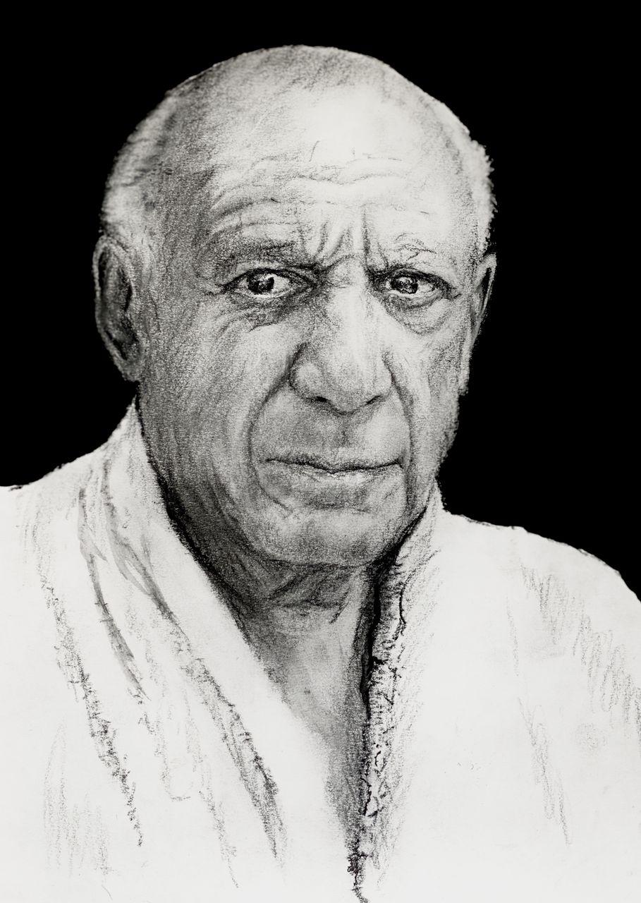 Ungerahmt w15Y8 Abstrakte Gesicht Kontinuierliche Linie Skizze Von Picasso Gem/älde Leinwanddrucke Schwarz Wei/ß Poster Picasso Wandkunst Wohnzimmer Schlafzimmer Dekor 40X60Cmx2
