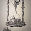 Sanduhr, Monochrom, Schwarzweiß, Zeit