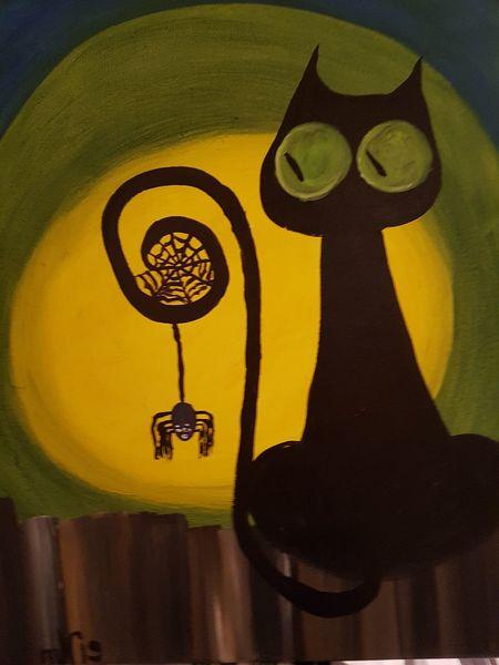 Abstrakt, Fantasie, Katze, Spinne, Malerei, Tiere