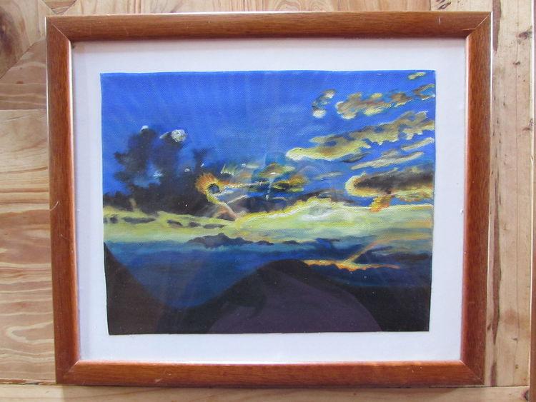 Gewitter, Himmel, Wolken, Sonnenuntergang, Malerei, Meine bilder