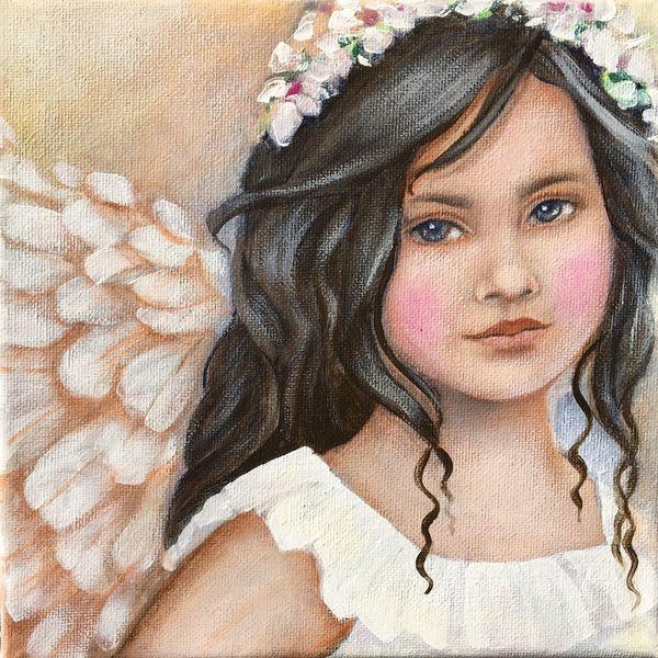 Flügel, Engelsflügel, Geburt, Menschen, Malerei acryl, Modern art