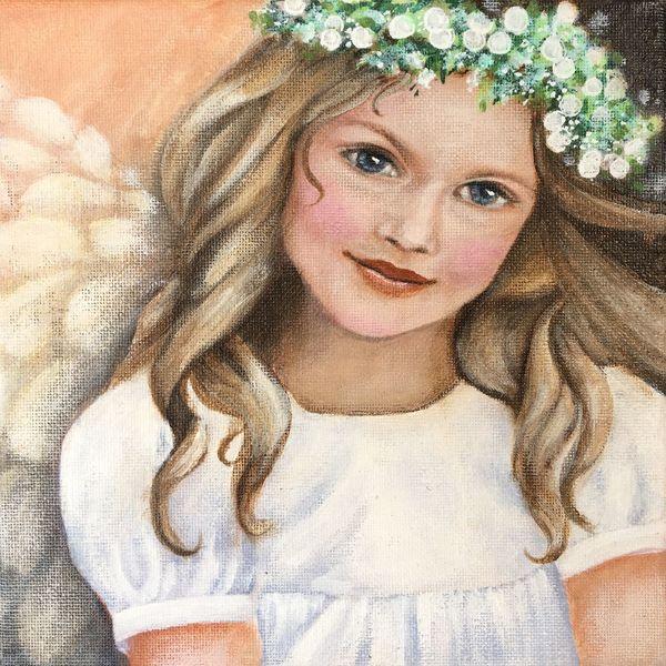 Flügel, Geburtstag, Engel, Acrylmalerei, Taufen, Modern art