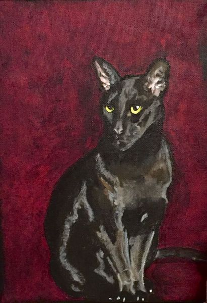 Malerei, Katze, Acrylmalerei, Orientalisch