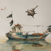 Aquarellmalerei, Schiff, Plenair, Aquarell