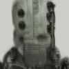 Science fiction, Zukunft, Gesicht, Dystopisch