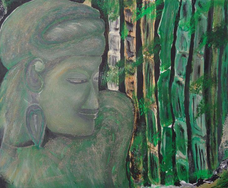 Malerei, Buddha, Statue,