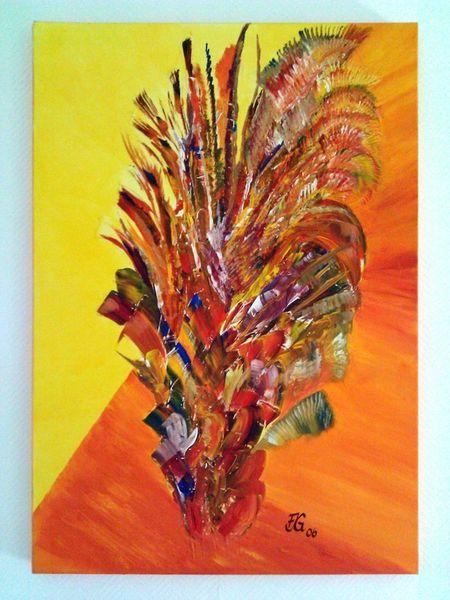 Abstrakt, Farben, Malerei, Strauch,