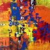 Acrylmalerei, Abstrakt, Malerei, Versammlung