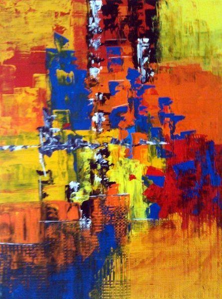 Acrylmalerei, Abstrakt, Malerei, Versammlung,
