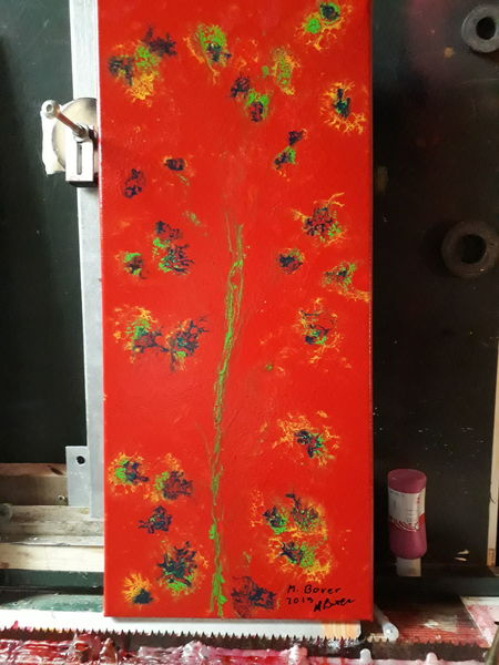 Abstrakt, Blumen, Farben, Malerei