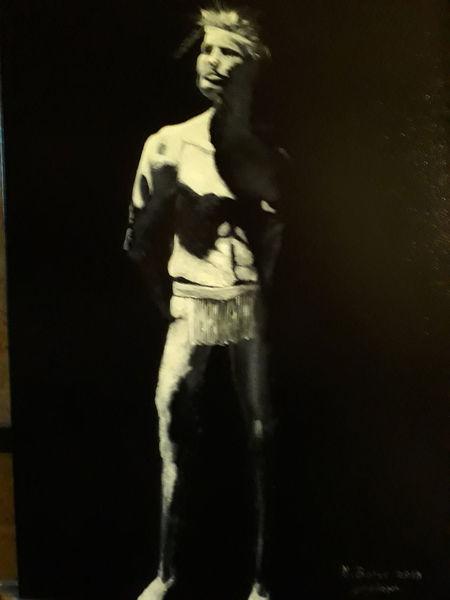 Licht, Schwarz, Menschen, Malerei, Indianer
