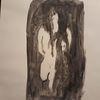 Schwarz, Menschen, Abstrakt, Malerei