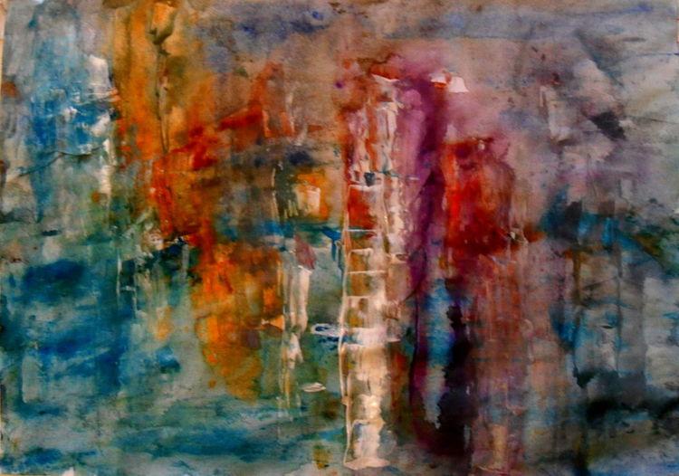 Rot, Abstrakt, Gelb, Malerei