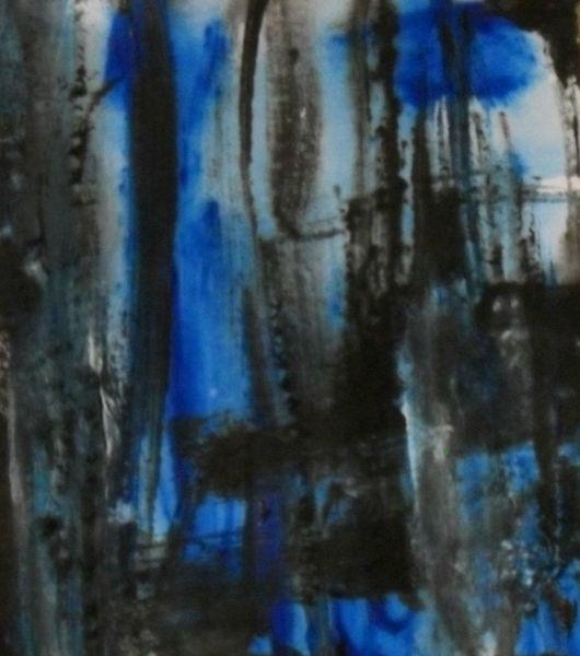 Schwarz, Blau, Malerei, Abstrakt