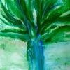 Frau, Baum, Gesellschaft, Malerei
