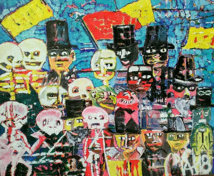 Acrylmalerei, Ölmalerei, Malerei, Garn, Mischtechnik
